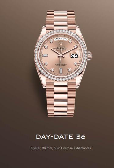 Imagem da notícia: Novo Rolex Day-Date 36 em ouro Everose de 18 quilates